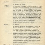 Première page du tapuscrit pour « Le Roi de l'évasion » dont Eddy Paape donna une autre version dans l'une des « Belles histoires de l'Oncle Paul », au n° 736 de Spirou daté du 22 mai 1952.