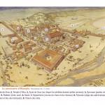 Reconstitution du sanctuaire d'Olympie (dessin de J. C. Golvin)