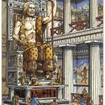 La célèbre statue, représentée par Jacques Martin dans Les Voyages d'Alix : la Grèce (Casterman, 2000)