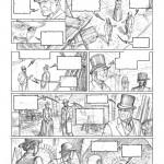 Crayonné préparatif pour le prochain Sherlock Holmes et les Chroniques de Moriarty, par Andrea Fattori.