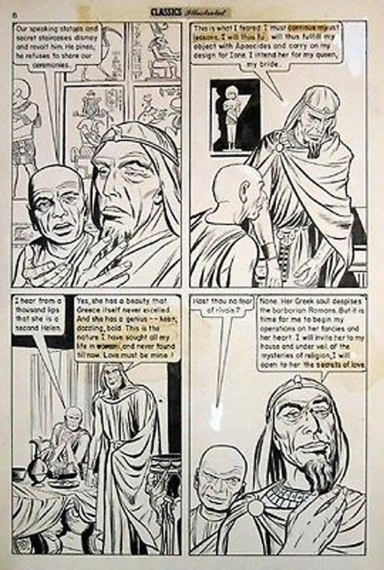 L'adaptation de « Last Days of Pompei » dans Classics Illustrated n°35.