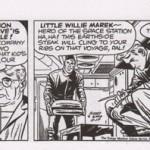 Un daily strip de « Sky Masters » encré par Ayers.