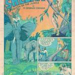 La splash page de Jumbo Comics n° 23, certainement due à Bob Powell, peut-être avec des décors d'Al Feldstein.