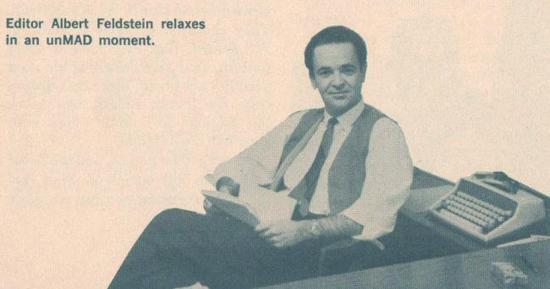 Al Feldstein en photo dans Mad.