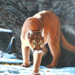 La peinture « Puma Emerging From Its Den »par Al Feldstein.