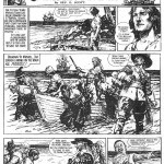 Une page originale de « Captain Flame » par Septimus Edwin Scott et Leonard Mattews publiée dans Knock-Out, en 1949.