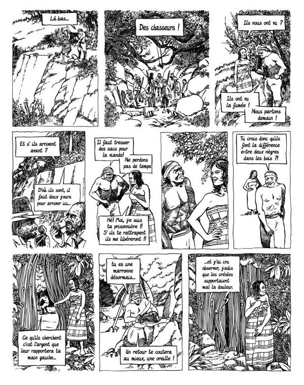 Planche originale de la page 28.