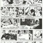 Une belle page de Calvo parue dans le n° 208 de Coq hardi (du 16 mars 1950) reprochée dans le n) 115 de Hop !, en 2007.