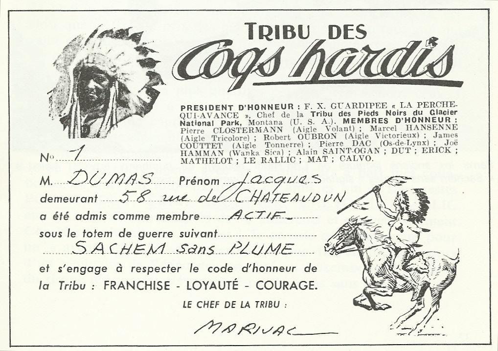 tribu des Coqs hardis