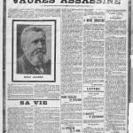 La mort de Jaurès en une de L'Humanité, le 1er août 1914.