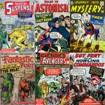 Iron Man (Tales of Suspense n° 41), Ant-Man (Tales to Astonish n° 35), Thor (Journey into Mystery n°84), S.H.I.E.L.D (Strange Tales n° 135), Fantastic Four n° 12, Avengers n° 1.