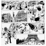 Un monde insouciant ? - encrage et extrait de la planche 12 (Glénat 2014)