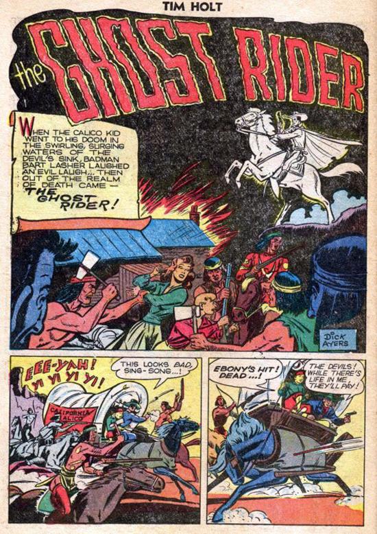 La splash de « Ghost Rider » de Tim Holt n° 11.