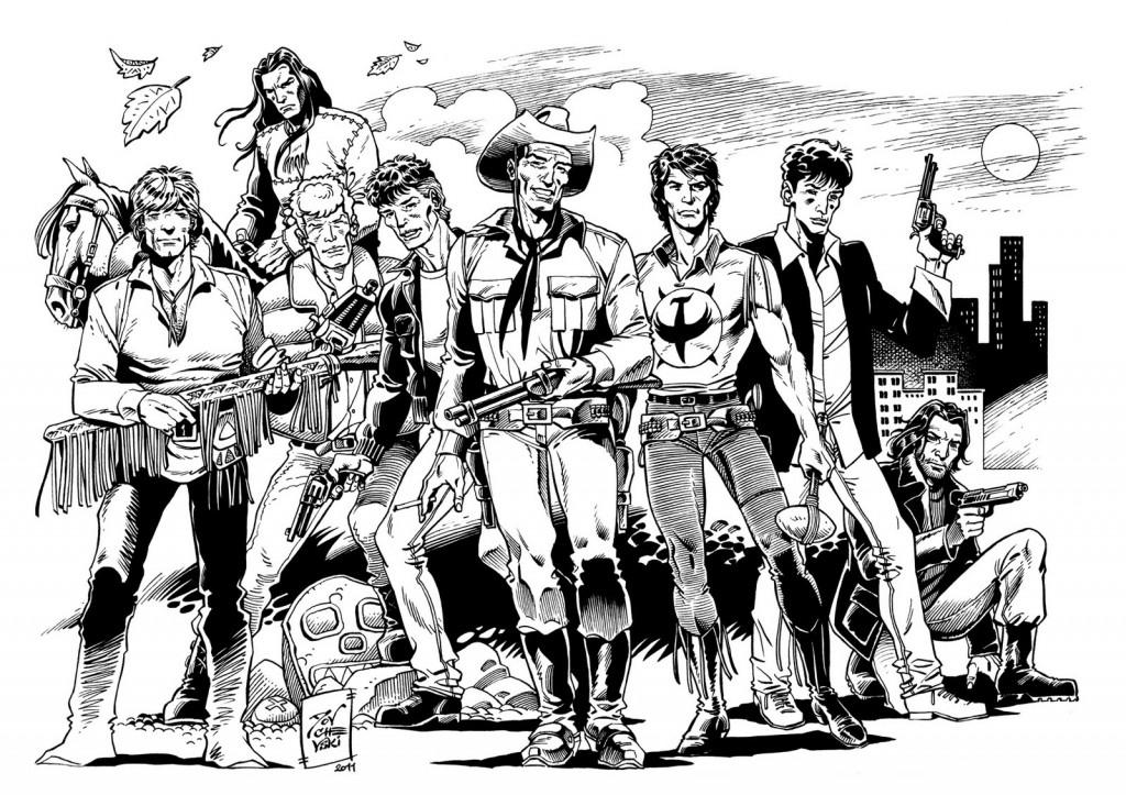 Les principaux héros de Sergio Bonelli Editore.