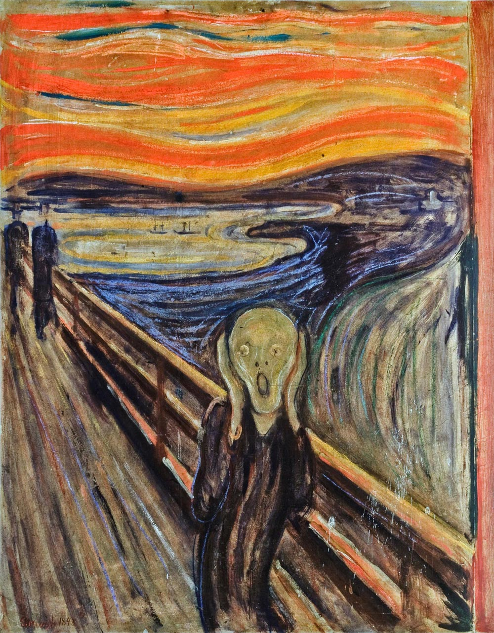 fear and edvard munch painting Edvard munch's portrait of existential angst is the second most  this, of course,  is the scream, by the norwegian artist edvard munch – the second most  i  stood there trembling with anxiety – and i felt a vast infinite scream.