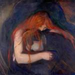 Edvard Munch - Le Vampire (Musée Munch à Oslo)