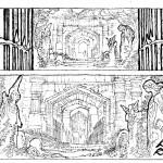 Recherches de cases pour le tome 3 (planches 1 et 3) par B. Maïorana