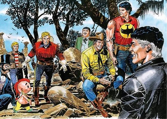 Les principaux héros de l'écurie Bonelli vus par Gianluca Gugliotta.