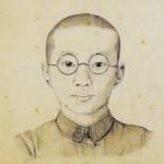 Autoportrait d'Osamu  Tezuka réalisé en 1941, il avait alors 13 ans.