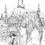 Crayonné du visuel définitif pour le tome 1 (Dargaud 2013)