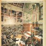 L'attentat d'Auguste Vaillant à la Chambre des députés (9 décembre 1893). Illustration du Petit Journal (23 déc. 1893)