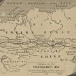 Carte du chemin de fer transsiberien en 1902