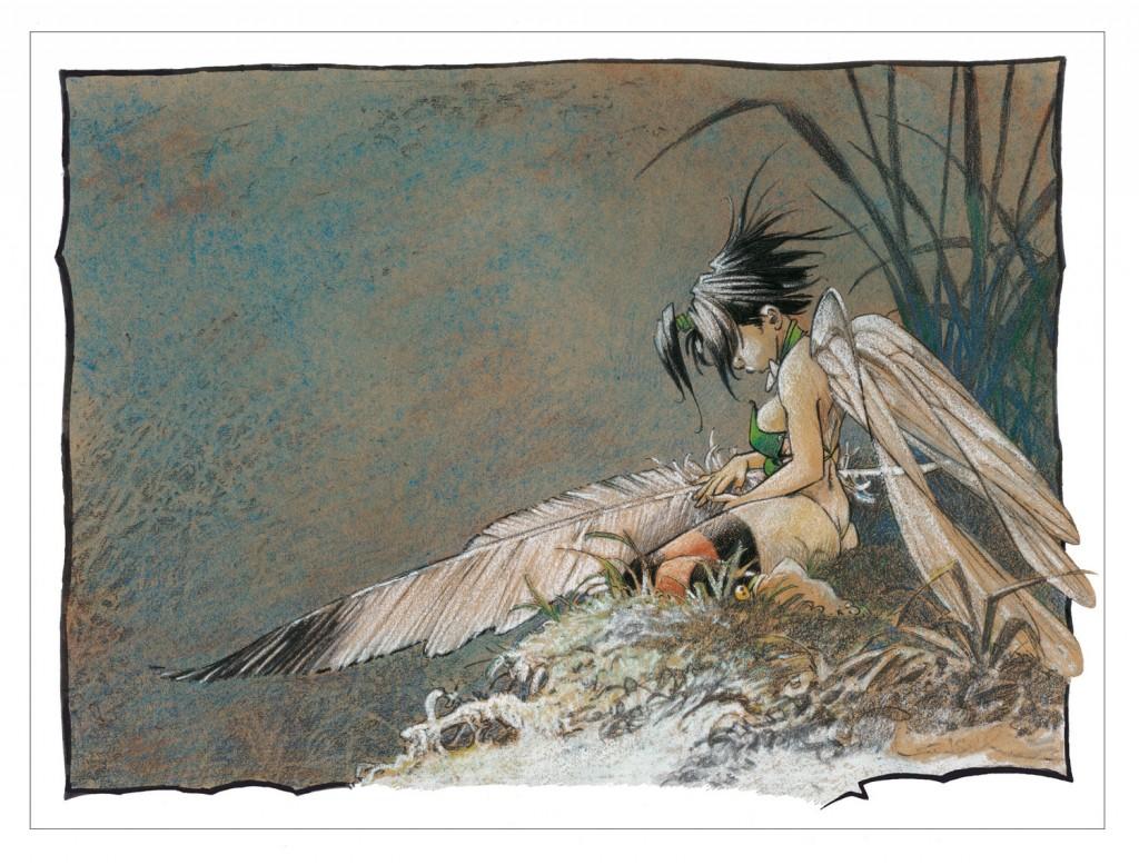 lllustration (Songe d'une nuit d'été) de Clochette pour le Portfolio Granit Associés.