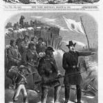 Une du Harper's Weekly datée du 14 mars 1863 (L'entraînement des soldats noirs à manier le fusil).