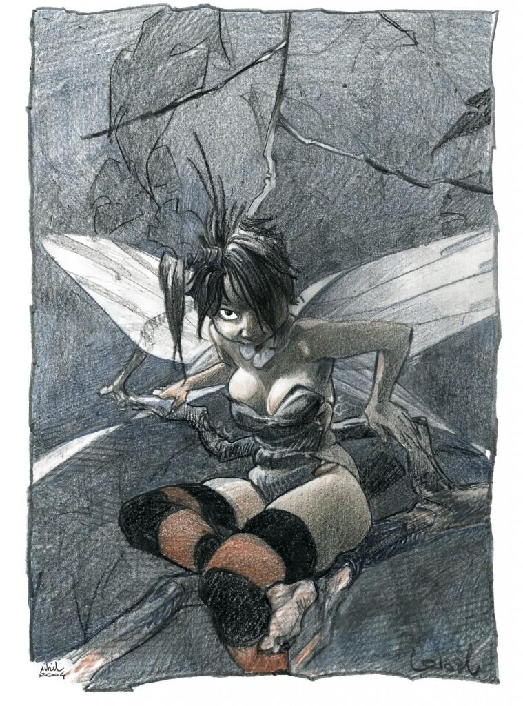 Dessins originaux de Clochette et de Crochet pour les couvertures des tomes 5 et 6 et pour des affiches (2004)