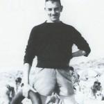 Érik en vacances, en 1954.