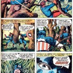 La page 11 du Captain America's Bicentennial Battles de Jack Kirby & Barry Smith.