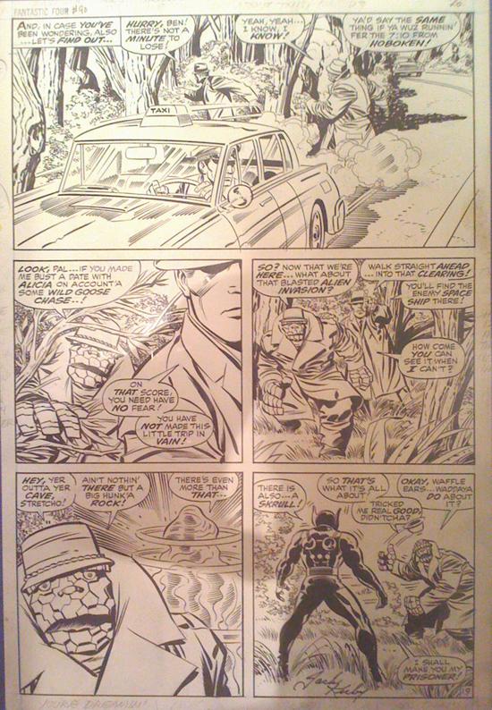 Planche originale de Fantastic Four n° 90 page 19.