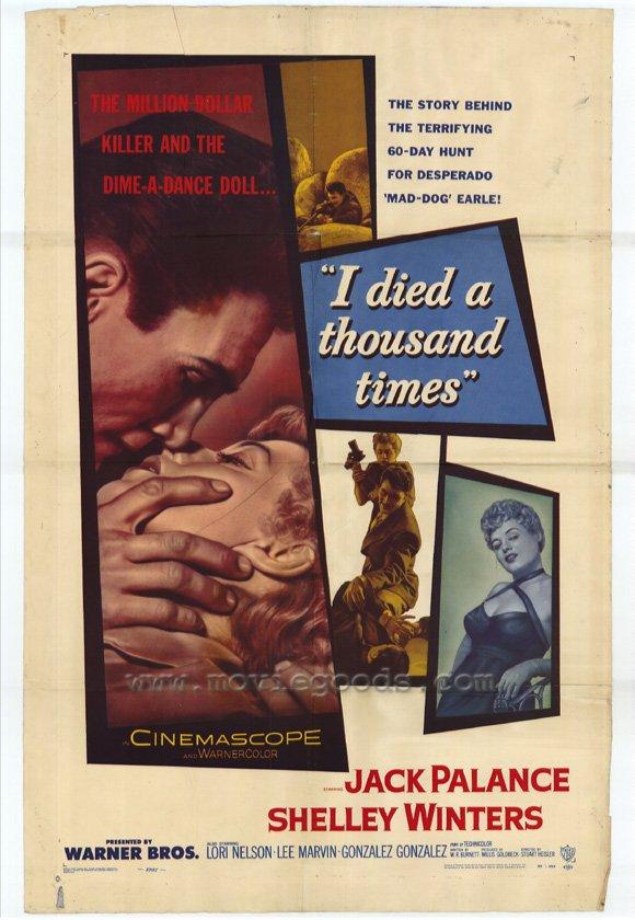 I died a thousand times (affiche de 1955)