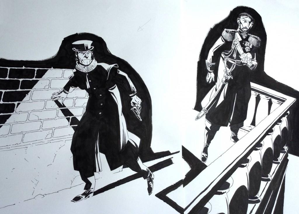 Personnages principaux et détails des ombres