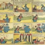 « Le Père Lacloche » (« Pete the Tramp », créé le 10 janvier 1932) est publié dans la première série du Journal de Mickey, du n° 1 au n° 100 du 13 septembre 1936.