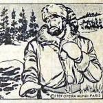 « Croc Blanc » de Jack London illustré par José Larraz pour Opera Mundi.