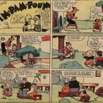 « Pim Pam Poum » (« The Katzenjammer Kids », créés le 12 décembre 1897) est publié dans la première série du Journal de Mickey, du n° 25 du 7 avril 1935 au n° 380 du 26 avril 1942.