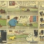 « Touffu » (« Pete's Pup », daily strip de « Pete the Tramp » créé en 1934) est publié dans le Journal de Mickey  du n° 1 au n° 43 du 11 août 1935.