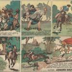 « Prince Vaillant » (« Prince Valiant », créé le 13 février 1937) est publié dans la première série du Journal de Mickey du n° 297 du 22 septembre 1940 au n° 381 du 3 mai 1942.