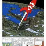 """La page 61 d'""""Objectif Lune"""" : vers l'infini du suspense, à une planche de la fin..."""