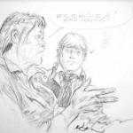 Case de « Bruce J. Hawker » crayonnée par René Follet.