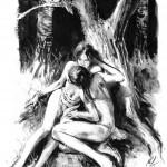 L'une des très belles illustrations de « La Légende des Hauts-Marais ».