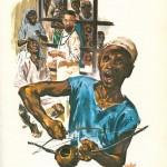 Illustration pour « Le Docteur-lumière » d'Armand Duval (collection Tous frères, Casterman 1962).