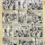 Un montage avec la seule demi-planche existante de « Jim Flokers » par Uderzo et Charlier pour l'une des prémaquettes de Pilote.