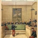 Le récit de Dreyfus en trois étapes, illustrées par Le Petit Journal : le procès (23 décembre 1894), la dégradation (13 janvier 1895) et l'enfermement (20 janvier 1895)... avant le bagne !