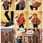 La séquence culte de l'ascenseur, dans Fureur chez les saints (tome 5, 1993), page 10