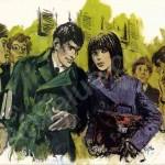 L'une des illustrations pour le roman « Aile Rouge contre Étoile Bételgeuse » en 1966.