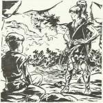 Une illustration pour « Baldur de la forêt » dans Bayard, en 1958.