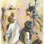 Illustration pour un témoignage sur la lapidation dans le tome 1 d« En chemin elle rencontre... ».