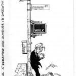 Le chemin de la rédemption ? Ex-libris pour la librairie Tropica BD (dessin de Gazzotti)